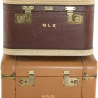 One Kings Lane - Michelle Nussbaumer - Vintage 1940s Travel Cases I, Set of 2