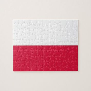 Puzzle with Flag of Poland