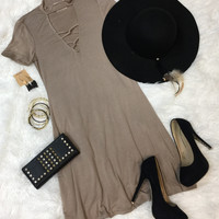 Say No More Dress: Mocha