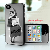 Vintage I'm Out of here Iphone 4 case, Iphone cover