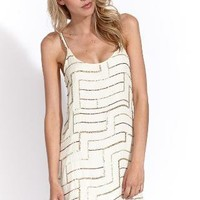 Parker silk clothing dresses and tops Sequin tank dress in cream