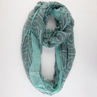 Swirl Infinity Scarf Mint One Size For Women 21613852301