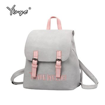 YBYT brand 2017 new preppy style rucksack hotsale women joker shopping shoulder lady bookbag travel bag student school backpacks