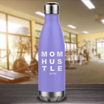Mom Hustle Laser Etched Water Bottle