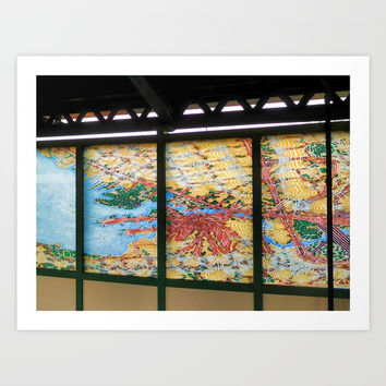 A Subway art Art Print by lanjee