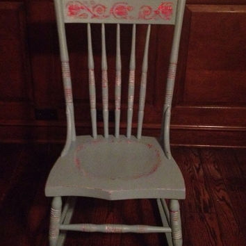 Antique Shabby Chic Rocking Chair