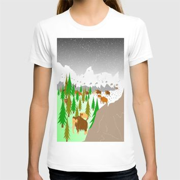 Trail of Mammoths by Kat Worth T-shirt by Kat Worth