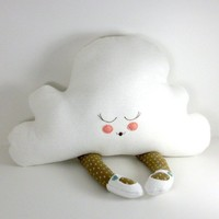 Hug A Cloud in brown and blue by goodbyebluemonday on Etsy