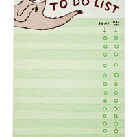 Sloth TO DO LIST - Sloth Gift - Funny Sloth Gifts - Do not want - green gifts - Illustrated sloth notepad - sloth gift ideas