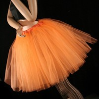 Orange cream Romance tutu skirt extra poofy knee length Adult -- You Choose Size -- Sisters of the Moon