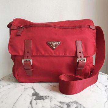 Prada Red Messenger