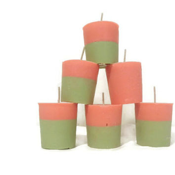 6 Watermelon soy candles, your choice of color.