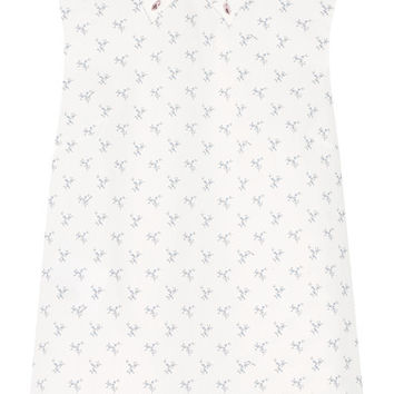 Miu Miu - Crystal-embellished printed cotton-poplin shirt