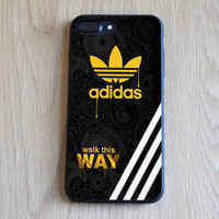 Sale!!!Adidas55Gold Logo Walk This Way Best iPhone Cover 7 7+ Hard Plastic Case