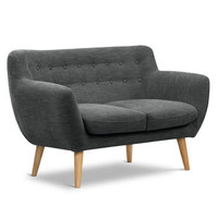 The Mimi Two Seater Sofa In Slate Grey