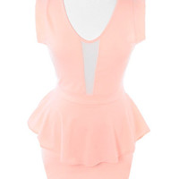 Plus Size Sweetheart Sexy Peplum Pink Dress, Plus Size Clothing, Club Wear, Dresses, Tops, Sexy Trendy Plus Size Women Clothes