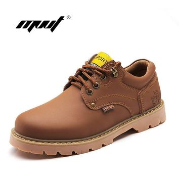 Popular men's boots male high quality men's leather boots new business casual flat sho