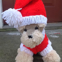 Hear is Santa paws Christmas sweater set, puppy paws Christmas sweater set, just in time for the snow, petite chris