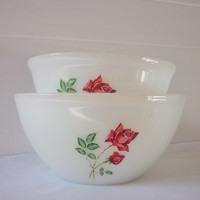 Two Crown Pyrex Bowls
