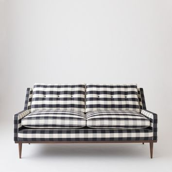 Jack Loveseat- Windowpane Plaid