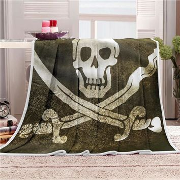Skull Soft Blanket Velvet Plush Throw Blanket Skull