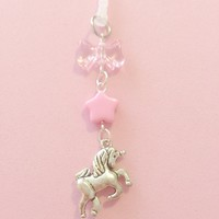 Pink bow with unicorn dust plug / pluggy