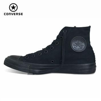 Original Converse all star shoes men women's sneakers canvas shoes all black high clas