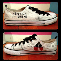 Men's Sleeping With Sirens Shoes by RisingRedFox on Etsy