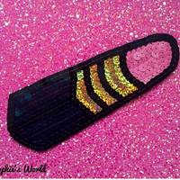 Sequin Lipstick Hand Embroidered Patch For Denim Jackets And Clothing Customisation