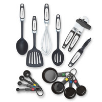 14-Piece Complete Kitchen Tool and Gadget Set w Can Opener and Measuring Cups
