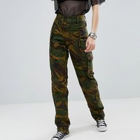 Reclaimed Vintage Revived Military Trousers In Camo at asos.com