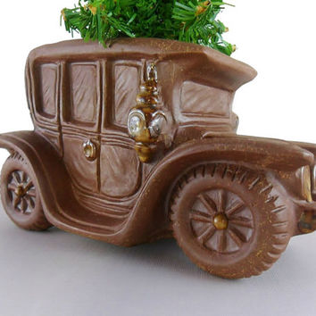 Vintage Antique Car Planter Desk Catch All Succulent Pot OMC Jalopy Car Salesman Dealership Office Decor Man Cave Automobile Decor Planter