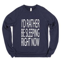 C - Sleeping (Right Now)-Unisex Navy Sweatshirt