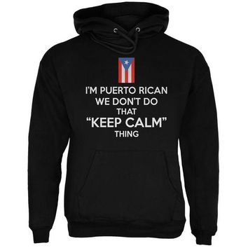 DCCKU3R Don't Do Calm - Puerto Rican Black Adult Hoodie