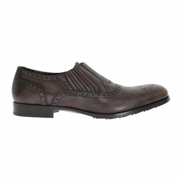 Dolce & Gabbana Brown Leather Dress Loafers