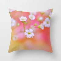 Faint Throw Pillow by Lisa Argyropoulos