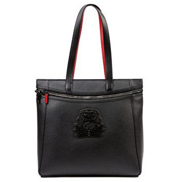 Wiberlux Christian Louboutin Unisex Embellished Logo Patch Two-Way Carry Bag