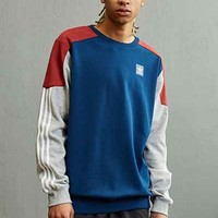 adidas Skateboarding Climalite Nautical Crew Neck Sweatshirt - Urban Outfitters