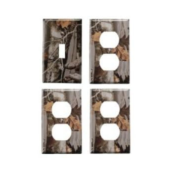 Camo Light Switch Cover + 3 Outlet Covers FA