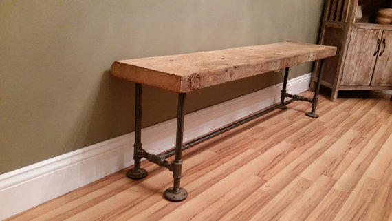 Barn Wood Rustic Bench 4 Foot Reclaimed From Thepinktoolbox On