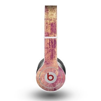 The Pink Paint Splattered Brick Wall Skin for the Beats by Dre Original Solo-Solo HD Headphones