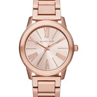 Michael Kors Hartman Rose Gold-Tone Stainless Steel Ladies Watch