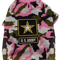 US Army T Shirt For Dogs Pink Camo Choice Size XS Small Medium Large Lightweight