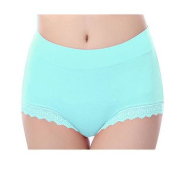 ESBONHS Women Briefs Modal Lace Seamless Underwear High Waist Cotton Knickers Female Ladies Girl Panties Solid Breathable Plus Size