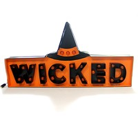 Halloween Wicked Marquee Sign Halloween Decor