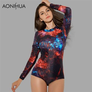 879359b011 One Piece Bathing Suit AONIHUA 2018 HOT Vintage Swimsuit for Wom