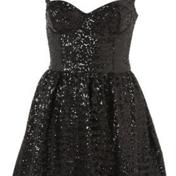 Sequin Strappy Prom Dress