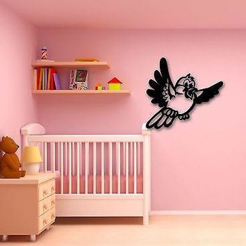 Wall Stickers Vinyl Decal Funny Bird Room Decor for Kids Baby Nursery Unique Gift (ig978)