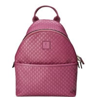 Girls' Microguccissima Leather Zip-Top Backpack, Pink - Gucci