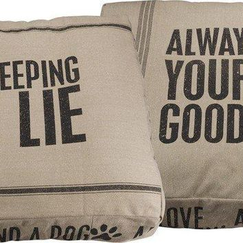Double-Sided Cotton Kiss Goodnight/Sleeping Dog -- Dog Bed  26-in